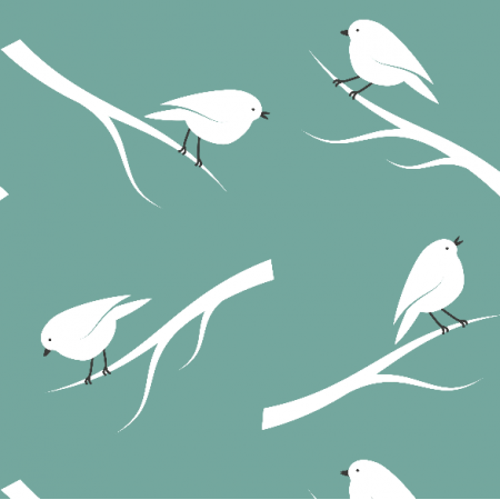 14046 | Birds on Teal