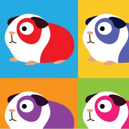 14182 | POP ART GUINEA PIGS