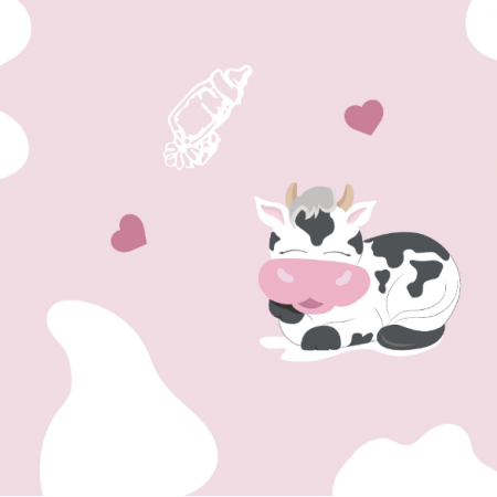Fabric 14201 | Happy cows - PINK