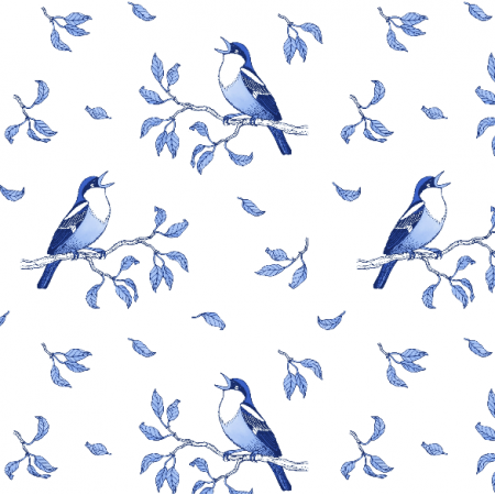 14208 | Blue singing birds