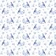 Fabric 14208   Blue singing birds
