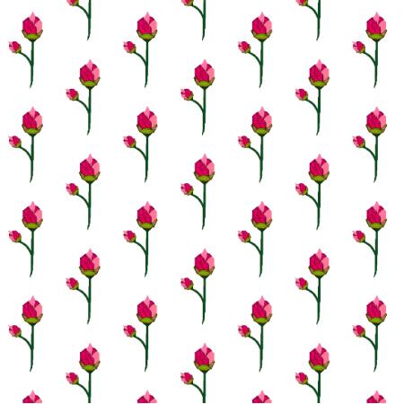 Tkanina 14348 | origami roses