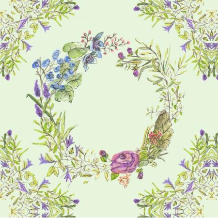 Fabric 14350 | kwiaty wianki floral delight0
