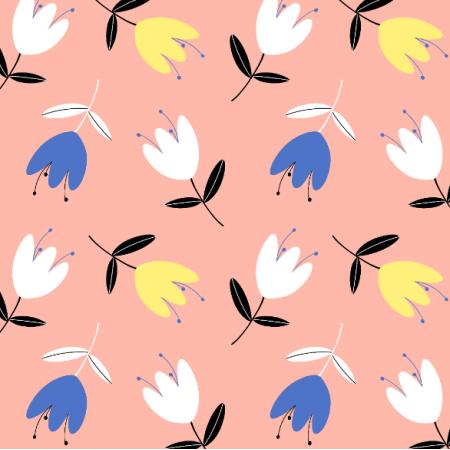 Tkanina 14358 | tulips