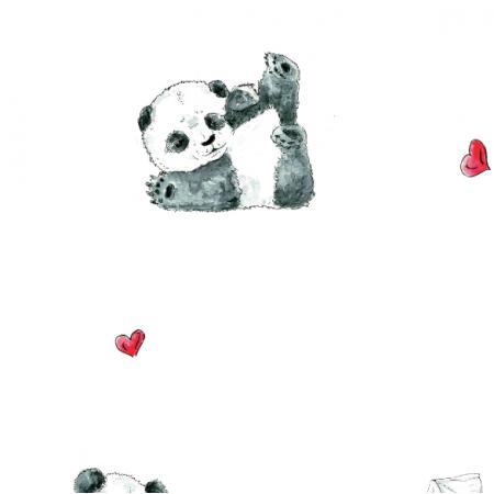 Tkanina 14446 | miłosne pandy