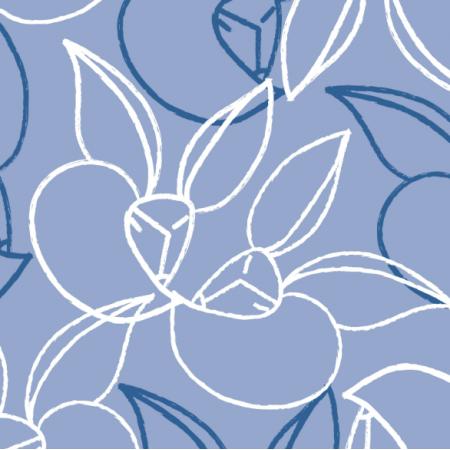 Tkanina 14519 | Przytuliski niebieskie kontur