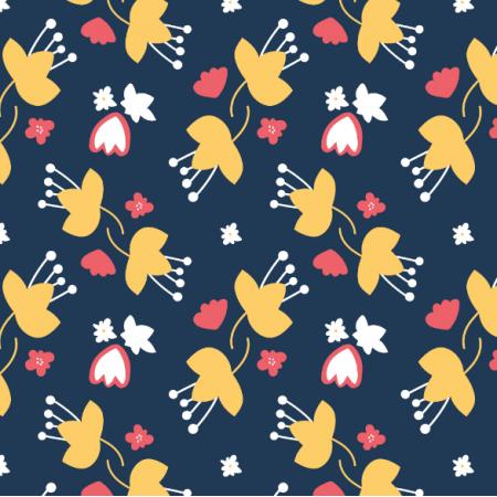 Tkanina 14523 | łąkowe kwiaty kasumi żółte