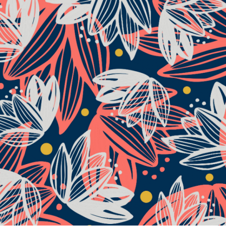 Tkanina 14527 | Kusuma ażurowe kwiaty