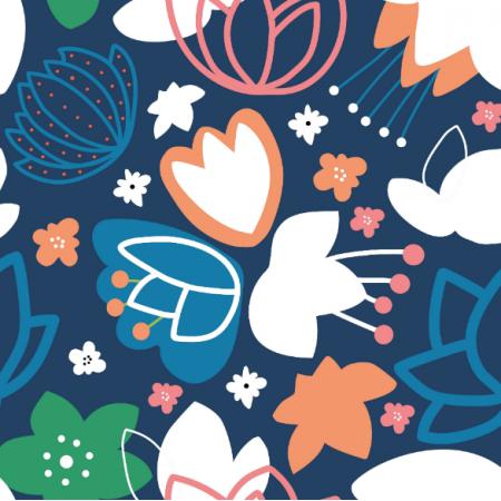 Tkanina 14529 | kolorowe kwiaty zuzanna