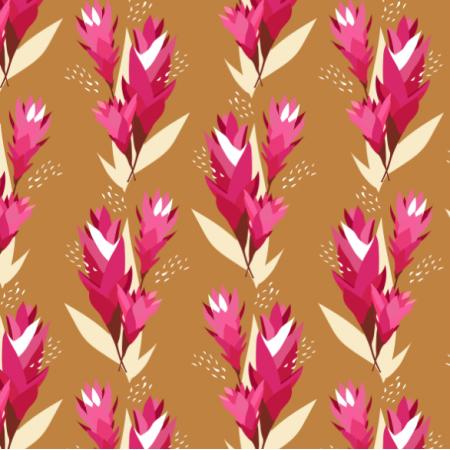Tkanina 14541 | ginger flower b