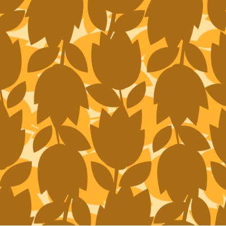 Tkanina 14545 | bold flower silhouette yellow