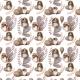 Tkanina 14552 | Sowy