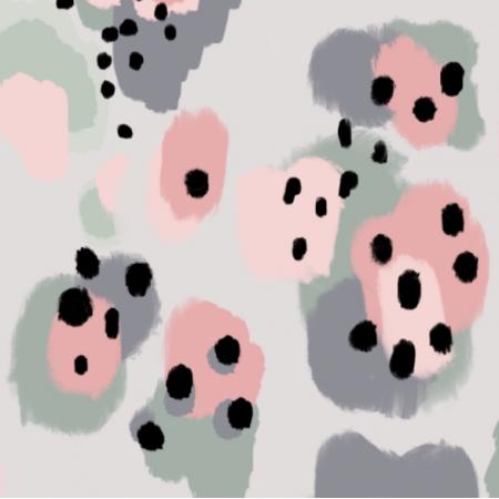 Fabric 14567 | Różowa panterA