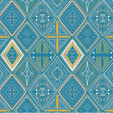 Fabric 14583 | Tribal diamonds