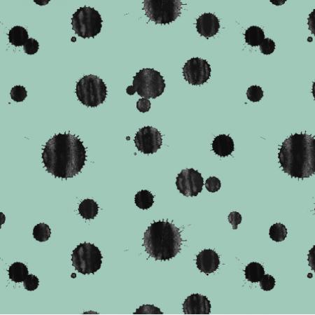 Fabric 14591 | Kleksy na Mięcie