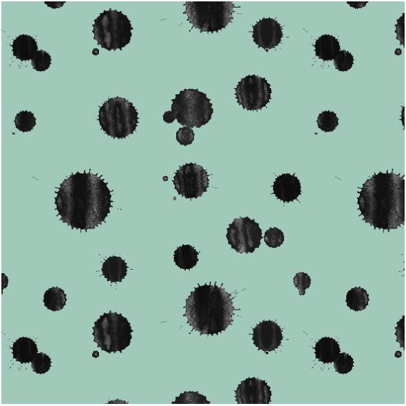 Tkanina 14591 | Kleksy na Mięcie