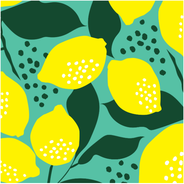 Fabric 14650 | lemon yellow and green0