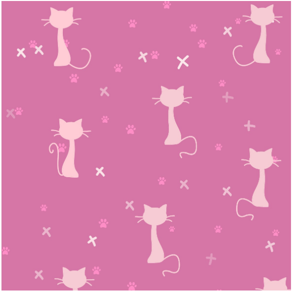 Fabric 14670 | pink cats