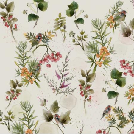 Fabric 14673 | Rudzik wśród roślin