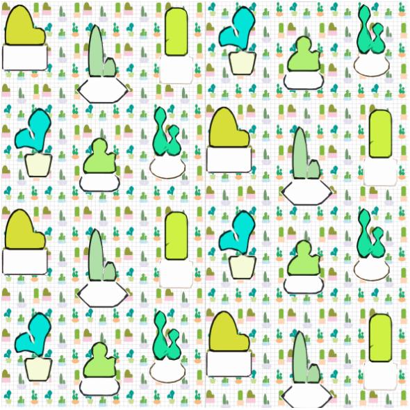 Tkanina 14699 | Kaktusy