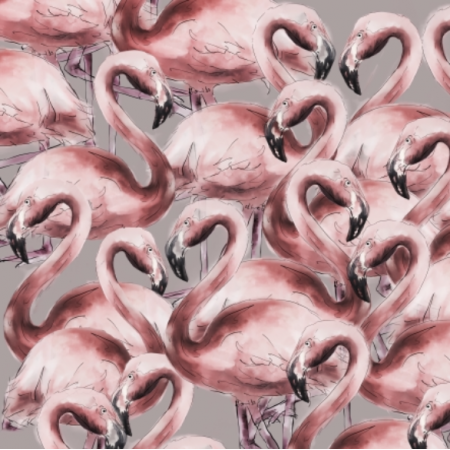 Fabric 14706 | FlAmingos