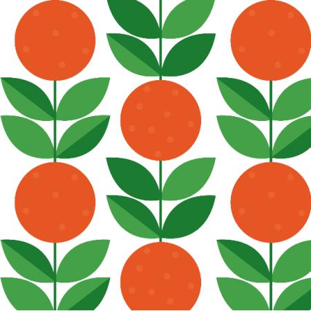 Fabric 14715 | PomaraŃcze SMALL