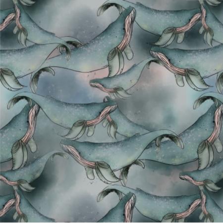 Tkanina 14724 | Wieloryby