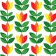 Tkanina 14729 | Tulipan Yellow Red XL