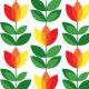 Fabric 14730 | Tulipan Yellow Red Small