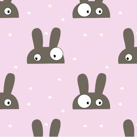 Fabric 14737 | Zające pink