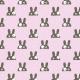 Tkanina 14737   Zające pink
