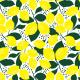 Tkanina 14738 | Lemon Yellow and white Fresh Lime Lemonade