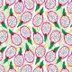 Fabric 14740 | Dragonfruit pitaya tropical Fruit White background