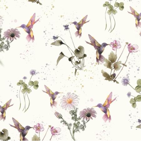 Fabric 14747 | Wiosenne kolibRy
