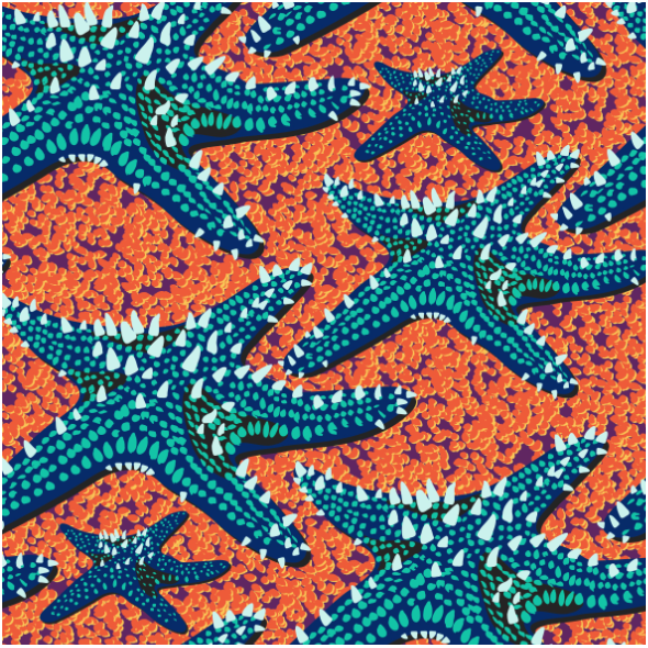Fabric 14758 | Starfish