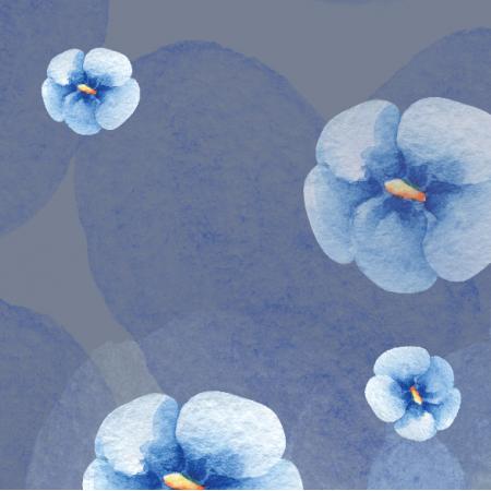 14822 | Fiolki light blue