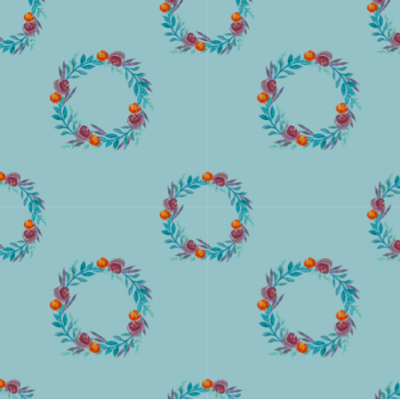 Fabric 14825 | Blue leaves
