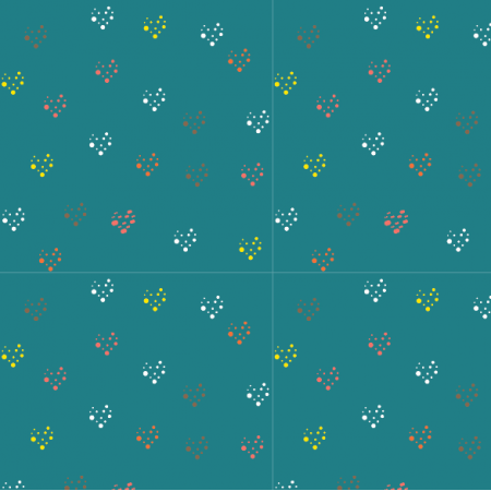 14868 | Dotts on teal