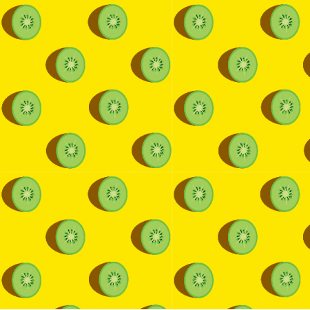 Fabric 14871 | kiwi on yellow