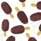 Fabric 14878 | ice cream mess on white0