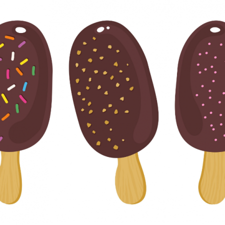 Tkanina 14879 | ice cream in a row