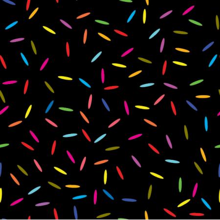 Fabric 14889 | konfetti neon black xl