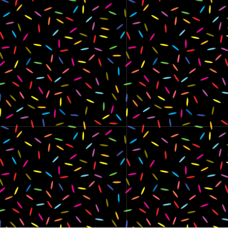 Fabric 14890 | konfetti neon black Small