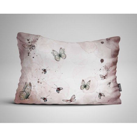 Fabric Pillow panel Butterflies