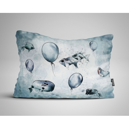Pillow panel Narwhal