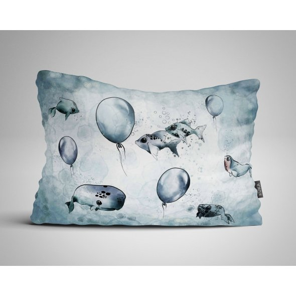 Fabric Pillow panel Narwhal