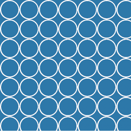 Fabric 1655 | blue circles