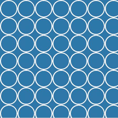 Tkanina 1655 | blue circles