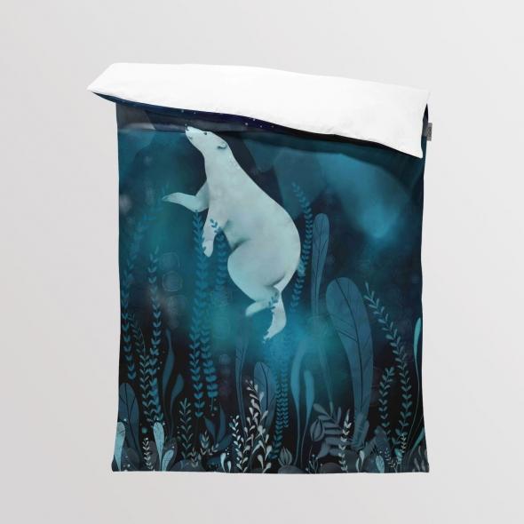 Fabric Bedding/Blanket Polar Bear