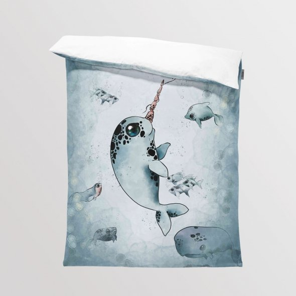 Fabric Bedding/Blanket Narwhal